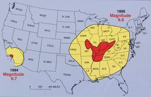 Fault Lines In Missouri Map.Why America Should Be On High Alert For A Major Earthquake Along The